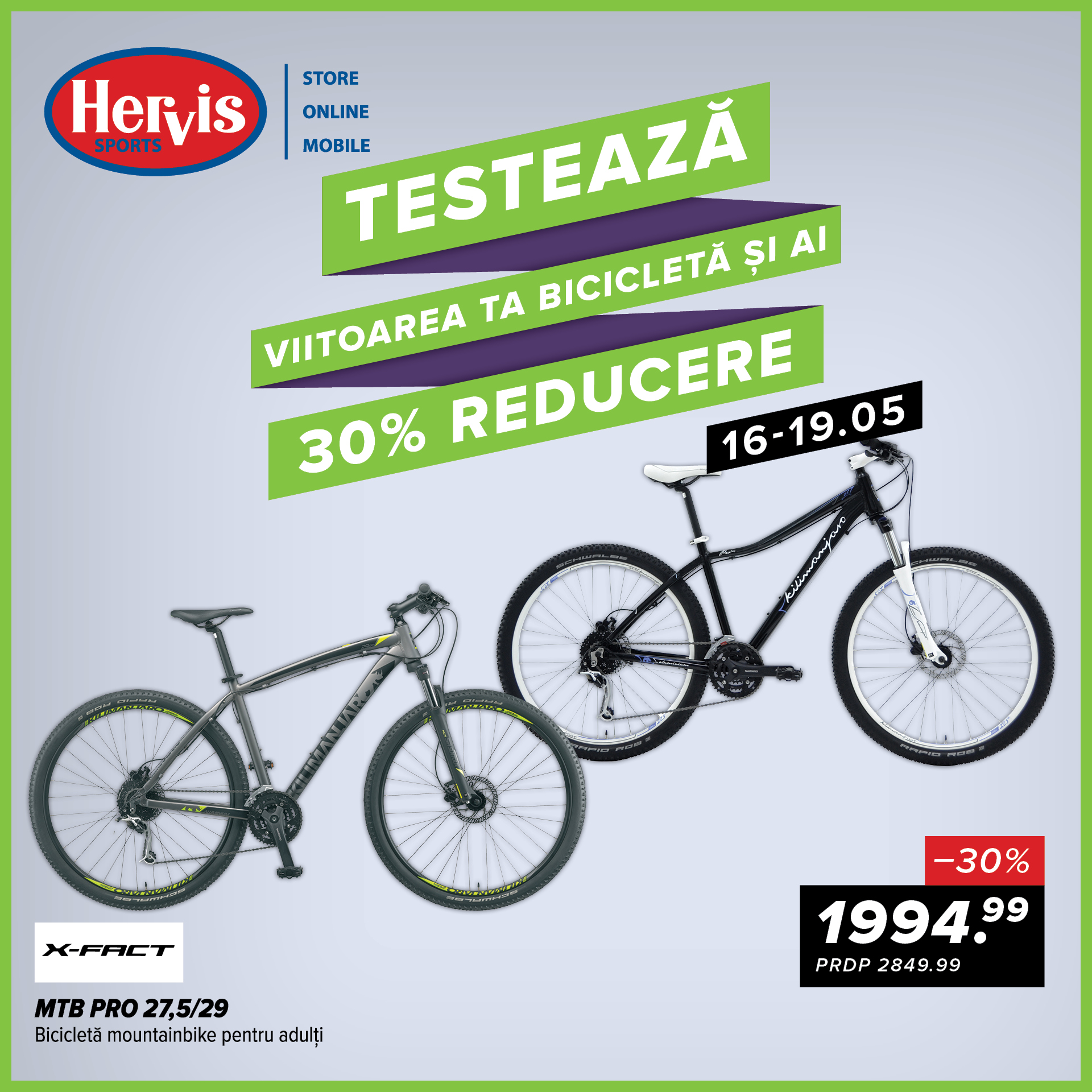 hervis reducere biciclete